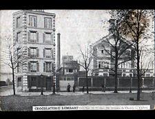 PARIS (XIII°) CHOCOLATERIE LOMBART , USINE animée en 1925