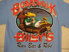 Boardwalk Billy's Raw Bar and Ribs Charlotte NC Vacation Trip Blue T Shirt S