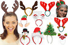 Christmas Headband Boppers Santa Reindeer Elf Snowman Party Fancy Dress