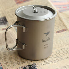 Titanium Folding Portable Mug Cup Travel Hiking Camping Outdoor 450ml/62g KS810