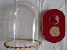 globe ovale de mariée en verre, dôme : hauteur 26 cm et largeur 19,5