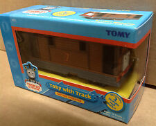 New Tomy TOBY WITH TRACK Rare battery operated train engine (Trackmaster)
