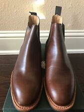 NEW Crockett & Jones Walnut Brown Chelsea Boots Sz 8 US Dainite Made In England