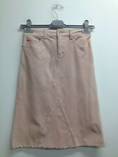 Jane Norman - Dusty Pink Soft Touch Cord Knee Length Skirt Uk 8 (Q848)