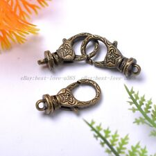 Wholesale 5Pcs Tibetan Silver Stars Lobster Clasps Charms 30X12MM BE2054