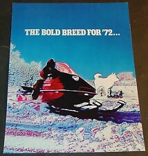 VINTAGE 1972 BOLENS HUSKY SPRINT SNOWMOBILE  SALES BROCHURE 4 PAGES NICE+ (854)