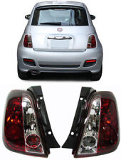 Chrome clear finish tail rear lights for FIAT 500 from 2007