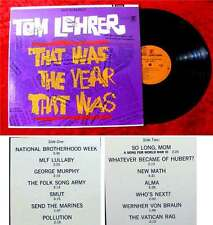 LP Tom Lehrer: That was the year that was (1965)