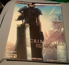 FINAL FANTASY VII CRISIS CORE OFFICIAL STRATEGY GUIDE BOOK BRAND NEW WITH POSTER