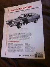 1972 Ford Lincoln Mercury Capri 2600 V6 from Germany Sales Brochure Prospekt
