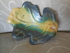 Rare TONY EVANS Pottery - Signed Leaf Dish