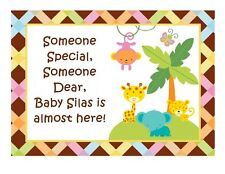 Jungle baby shower birthday edible party cake topper decoration frosting sheet