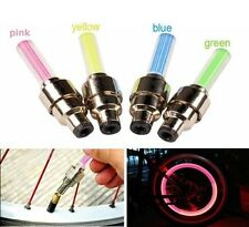 4 Pcs Color Bike Bicycle Car Wheel Tire Valve Cap Spoke Neon LED Lights Lamp New