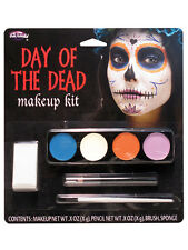Day Of The Dead Ghost Girl Make Up Kit Facepaint Halloween Fancy Dress Accessory