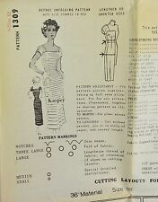 Vintage 1950s KASPER Designer Ribbon Dress SPADEA Sewing Pattern Size 12 # 1309