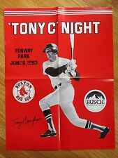 "TONY CONIGLIARO ""TONY C' NIGHT"" JUNE 6, 1983 BOSTON RED SOX Poster"