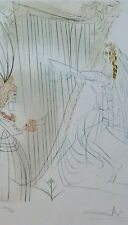 SALVADOR DALI TRISTAN & ISOLDE Queen Iseult SIGNED HAND NUMBERED LITHOGRAPH
