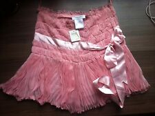 Christian Dior silk pleated mini skirt -  Size UK 8 FR 36 - pink