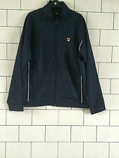 MENS NAVY BLUE FILA URBAN VINTAGE RETRO OLD SCHOOL TRACK TOP JACKET SIZE UK XL