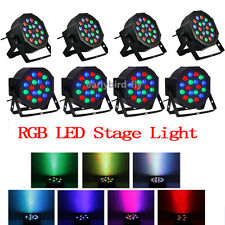 8x RGB PAR64 DMX512 DJ Par LED Light Stage Lighting Party Club Bar 18X3W