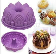 New Round Silicone Cake Mold Pan Muffin Chocolate Pizza Pastry Baking Tray Mould