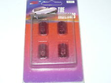 AMERICAN AUTO SPEED SHOP TIRE VALVE CAPS ANODIZED RED NEW