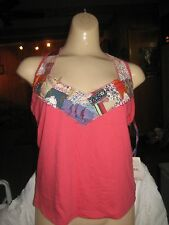 NEW FREE PEOPLE BOHO PATCHWORK HALTER TANK TOP Woman M nordstroms