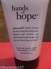 Philosophy Hands Of Hope Hand and Cuticle cream 4 ounce NEW SEALED