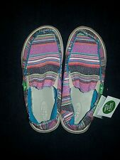 Sanuk girls brand new donna sidewalk surfers tags attached size 5
