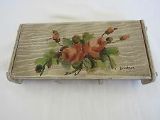Frank Woods hand painted signed wooden box Vintage