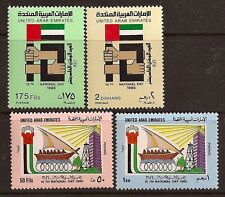 UNITED ARAB EMIRATES 1986 FLAGS SC # 224-227 MNH