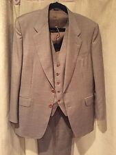 Canali Milano Bernini Beverly Hills 3 Piece Suit Jacket 48C/38S US Pants 29.5/31