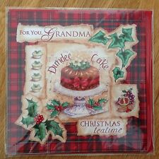 Grandma Christmas New Year Dundee Cake Greeting Note Card *NEW* (C15)
