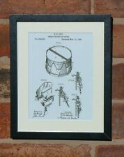 USA Patent Drawing vintage SNARE DRUM STRAINER music MOUNTED PRINT 1889 Gift