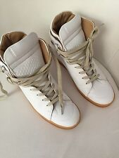 Maison Martin Margiela For H & M High Top Sneakers Bianco WHITE in pelle 40 US 9 UK 7