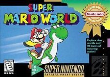 ***SUPER MARIO WORLD SNES SUPER NINTENDO GAME COSMETIC WEAR~~~