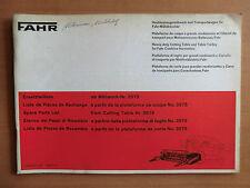 Deutz FAHR Ersatzteilliste Mähwerk + Transportwagen für Mähdrescher Ausgabe 1977