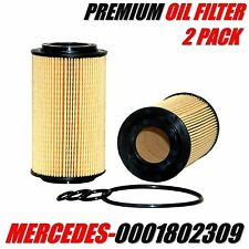 2 Pack MERCEDES-BENZ Engine Oil Filter OE# 1121800009 / 0001802309