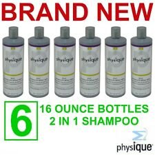 6 Physique 2 in 1 Hair Shampoo/Conditioner,16 oz Bottles,New