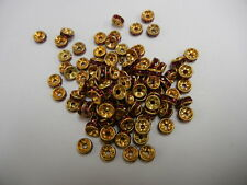 36 swarovski xilion rhinestone rondelles,6mm ruby / unplated brass
