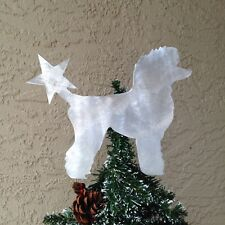 Poodle with Star, Dog Tree Topper, Wreath Decor, Holiday