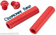 GIANT manopole bici mountain bike mtb CONTACT SILICONE GRIP red rosse rosso