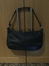 CASUAL MARKS AND SPENCERS BLACK LEATHER  SHOULDER BAG / USED / GOOD CONDITION