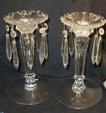 Beautiful Heisey 1509 Queen Ann 1-light Candelabra Candlestick pair