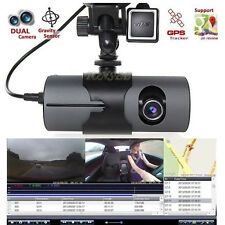 "HD 2.7"" Vehicle DVR Camera Video Recorder Dash Cam G-Sensor GPS Dual Len Camera"