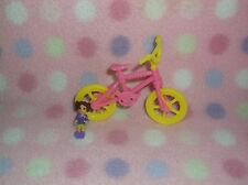 KELLY DOLL SIZE PINK/YELLOW BICYCLE & TOY DOLL FUN ACCESSORY SET GIRLS 3+ CUTE!