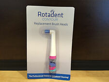 Rotadent CONTOUR HOLLOW FLAT Brushhead - BRUSH HEAD Rota Dent New FREE SHIPPING