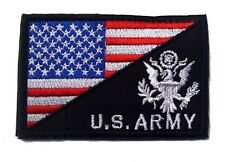 USA FLAG & U.S. ARMY MORALE BADGE TACTICAL MILITARY PATCHES  PATCH Sh 574