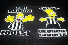 Bart simpson & homer simpson newcastle autocollants the simpsons toon Geordies