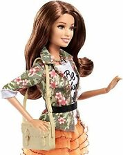 Barbie Teresa style doll rooted eyelashes fully posable. Floral jacket.New 2016